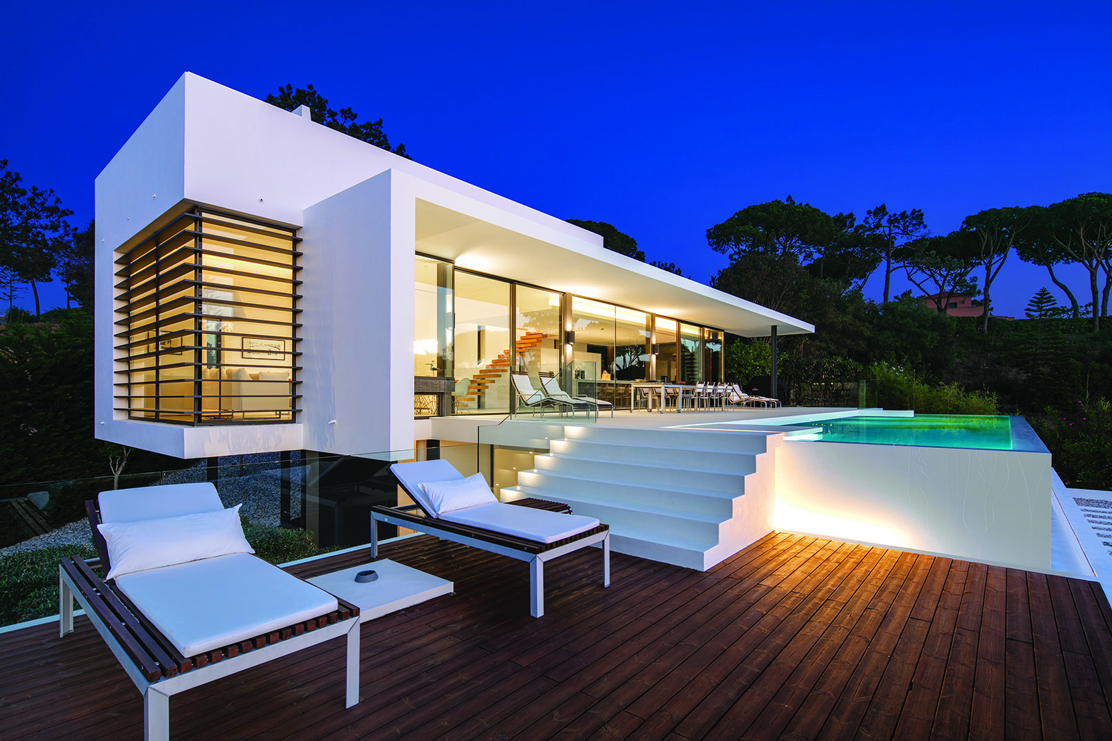 Eye-catching contemporary villa with sea views