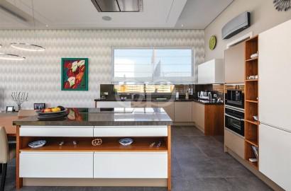Unique contemporary villa with golf and sea views