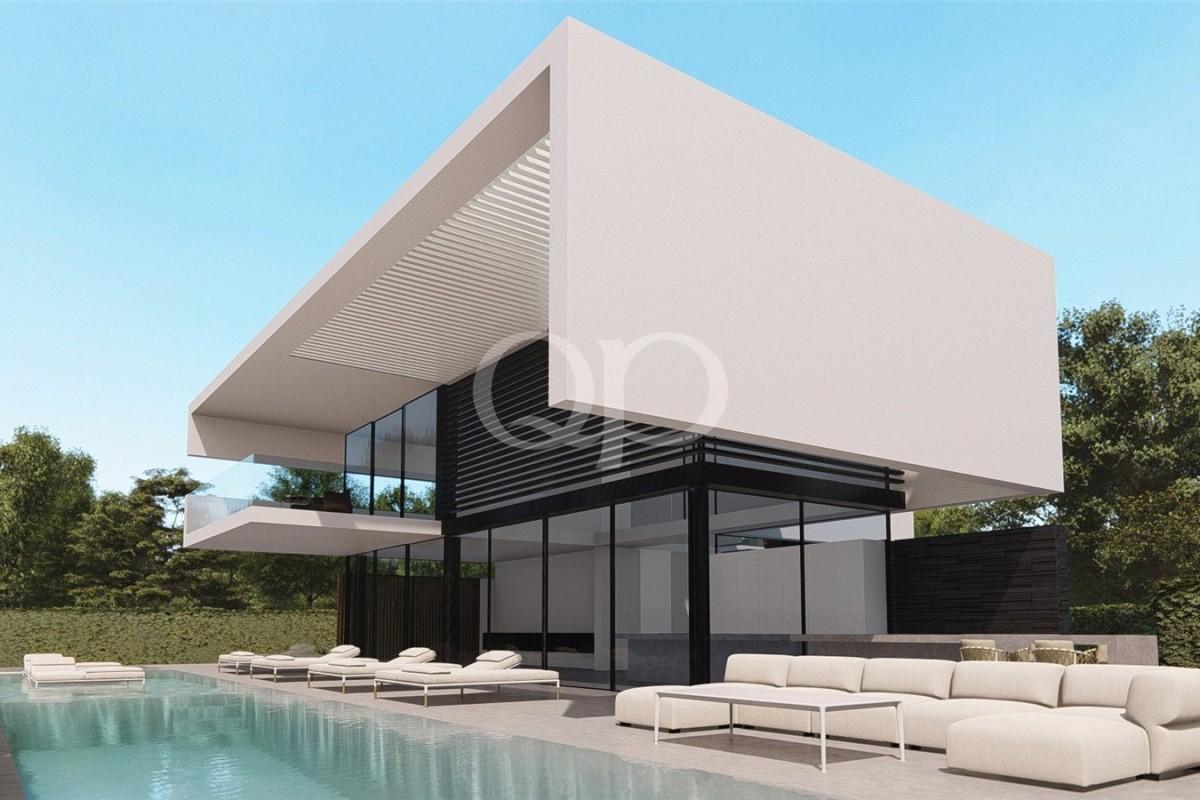 Lote em Vale do Lobo com projeto por Vasco Vieira aprovado