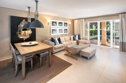 Ground floor apartment with a private garden