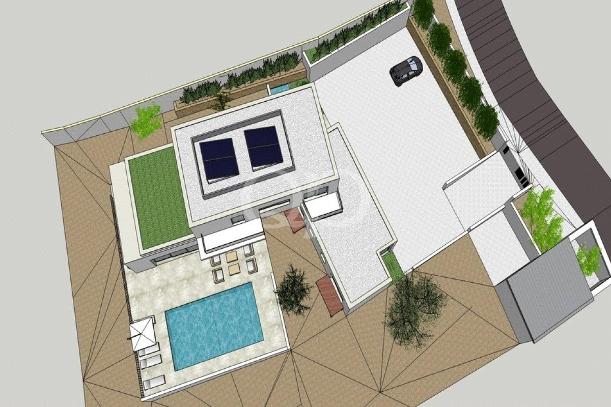 Building plot with an approved project