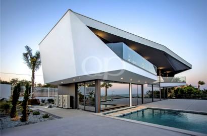 Modern villa with stunning views